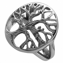 SUNYIK Punk Rock Gothic Hollow Out Tree Of Life Hope Faith Stainless Steel Finger Ring Fashion Jewelry