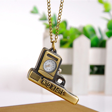 Cindiry Fob Watches Creative Retro Personality Bronze Quartz Pocket Watch Hollow Necklace Pendant Sweater Chain Women Gift P0.21(China)