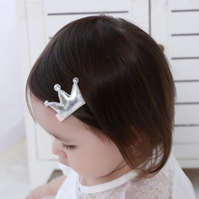 TIPPA Hairpins Crown Hair Clip Kids Star Headdress PU Leather Girl's Cute Heart Head Barrettes Princess Accessories(China)