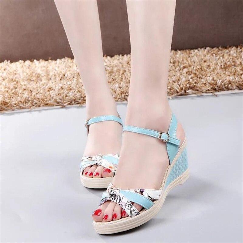 Ladies Women Wedges Shoes Summer Sandals Platform Toe High-Heeled Shoes O0530#305
