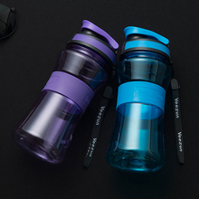 550ml Portable My Sports Water Bottle BPA Free Plastic Drink Bottle for water With Tea Infuser Bicycle Direct Drinking Tumbler(China)