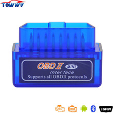 Newest Version Blue Elm327 OBD2 Auto Scan Tool V2.1 OBDII Bluetooth 2.0 Works On Android and PC(China)
