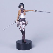 "Japan Anime Attack On Titan Mikasa Ackerman 14cm/5.5"" PVC Figure toys for children juguetes brinquedos(China)"