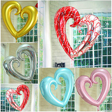 Buy 32 inch aluminum film balloon wedding decoration gogo heart helium balloons foil silver hook heart heart balloon for $1.49 in AliExpress store