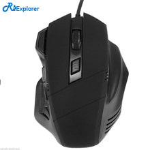 DIY LOGO 2000 DPI professional game mouse, wired mouse, USB optical mouse, computer game, csgo LOL on laptop(China)