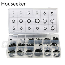 Houseeker 225 Pcs Kit Round Shape O Rings Seal Nitrile Rubber Car Auto Vehicle Repair Tools Air Conditioning Refrigerant Ring(China)