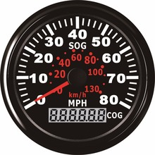1pc 0-130km/h GPS Speedometers 85mm Speed Milometers 0-80MPH Odometers 9-32V for Auto with GPS Antenna and Backlight(China)