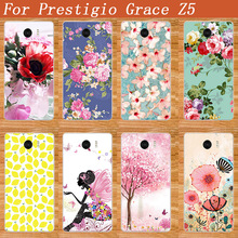 For Prestigio Grace Z5 PSP5530D Case Newest Luxury Protective Case Phone Cover 10 Styles DIY Painted design Case for PSP5530 DUO(China)