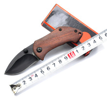 Mini Pocket Folding Knife Tactical Survival Knives 440C Blade + Wood Handle Outdoor Survival Hunting Camping knife