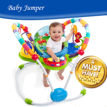 Rainforest Jumperoo Learning Walker Musical Baby Bouncer Rocking Chair Baby Jumper Activity Center Baby Swing(China)