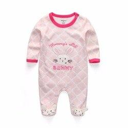Одежда для маленьких девочек; зимний комбинезон с длинными рукавами для новорожденных; ropa bebe; хлопковые пижамы для детей 12 месяцев; Комбинез...