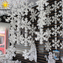 30Pcs White Snowflake Christmas Ornaments Holiday Festival Party Home Decor Decoracion Navidad New Year Gift