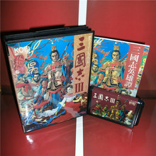Sangokushi 3(Chinese language) Japan Cover with box and manual For Sega Megadrive Genesis Video Game Console 16 bit MD card(China)