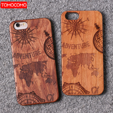 TOMOCOMO For iPhone 5 6 6Plus 7 7Plus 8 8Plus King Queen Crown World Map Praying Real Wood Phone Case For SAMSUNG Galaxy S7 Edge(China)