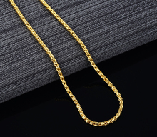 50cm Long Gold Color Men Jewelry Gold Filled Link Chain Necklace For Men