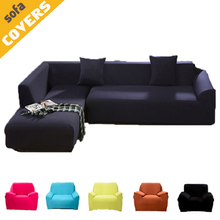 Solid Pure Color Sofa slipcover Armchair Corner Couch Full body Chaise cover Elasticity flexible Anti-dirty-Machine Washable(China)