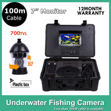 100M Cable Underwater Fish Finder 7Inch Video Camera 12Pcs LED Camera Ocean/Ice/Lake fishing camera Rotate 360 Degree(China)