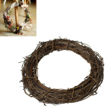 "Christmas Rattan Decorations Natural Christmas Wreath 20cm(7 7/8"") Dia., 1 Piece"