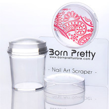 BORN PRETTY 1Pc 3.9cm Clear Silicone Stamper & 1Pc Scraper Manicure Nail Art Stamping Tool Sets