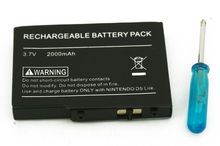 2000mAh Rechargeable Battery pack +Screwdriver for Nintendo NDS Lite NDSL Li-Ion(China)