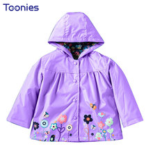 Hot Sale Coat Girls Cute Flowers Cartoon Children Set Waterproof Windbreaker Cardigan Jacket Girls Boys Rain Coat Outwear Suits