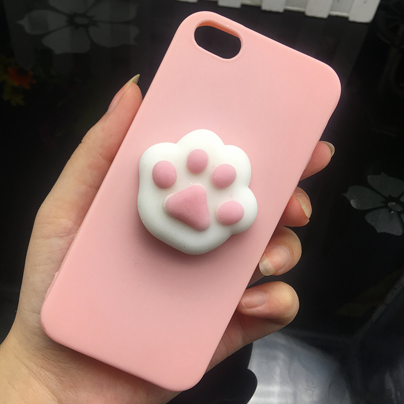 Cute 3d Squishy Cat Silicon TPU Soft Cases For iphone 5 5S SE 6 6s plus Candy Color Back Cover 5 S 7 7plus 8 8plus X phone cases (6)