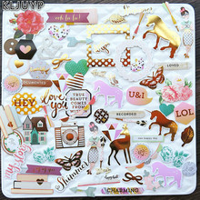 75pcs Unicorn Colorful Cardstock Die Cuts for Scrapbooking/Card Making/Journaling Project DIY Craft(China)