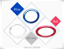 Car styling modification steering wheel decorative circle stickers Red Blue Silver For BMW F30 F20 F18 F10 E36 E52 E46 E91 E81(China)