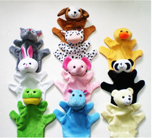 Animal Puppet Big+ Little Finger Doll Early Education Childhood Parenting Toys Finger Puppet(China)