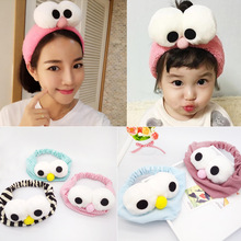 Korea Wool Sweet Ball Velvet Big Eyes Make Up Headband Cotton Hair Accessories Girls Headband Hair Band Hair Bows Hair Ties -4(China)