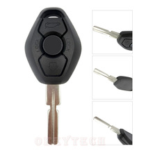 Replacement remote car key shell 4 track for BMW  3 5 7 SERIES X3 X5 backside without words with logo free shipping high quality