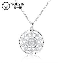 Women's Jewelry Silver plated Necklace colares Vintage Chains Necklaces Jewelry supplier Anti allergy gift