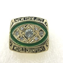 Promotion Price for Replica Newest Design 1968 Super Bowl III New York Jets Championship Ring Free Shipping(China)