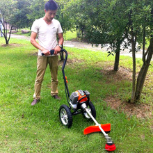 New Hand Push Gasoline Lawn Mower Air-cooled Two-Stroke Engine Power: 1.25kw / 7000 / min Displacement: 43cc 13KG