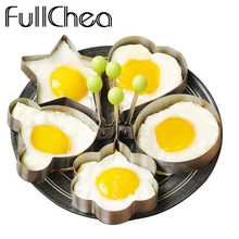 FullChea 5pcs/set Cooking Tools Flower Heart Type Soap Scrambled Eggs Omelette Mould Egg Mold Stainless Steel Soap Scrambled Egg(China)