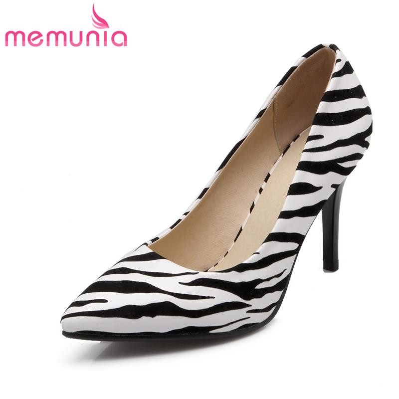MEMUNIA 2017 hot sale good quality pu soft leather women pumps stiletto high heels pointed toe sexy zebra party shoes for female<br><br>Aliexpress