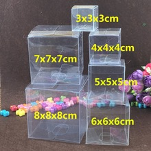 100PCS  Transparent waterproof Clear PVC boxes Packaging small plastic box storage for food/jewelry/Candy/Gift/cosmetics