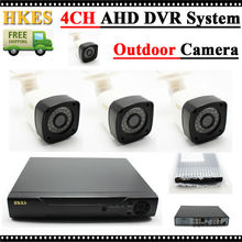 HKES 720P HD 1200TVL Outdoor Security Camera System 1080P HDMI CCTV Video Surveillance 4CH DVR Kit AHD Camera Set