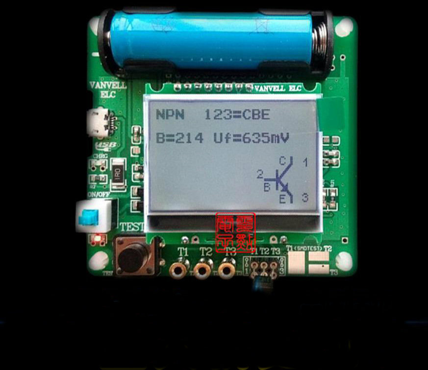 Graphic M8 transistor tester upgrade M328 version of the inductive capacitance ESR table multi-function tester DIY<br>
