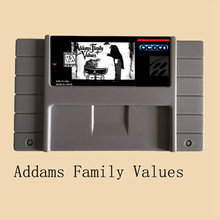 Addams Family Values 16 bit Big Gray Game Card For NTSC Game Player