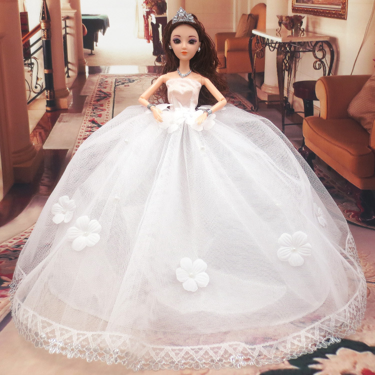 New HOT 1:1 29cm Beautiful forBarbie Doll and Handmade Wedding Dresses Dress 3color Noble Reborn Babies doll Girl Best Gifts<br><br>Aliexpress