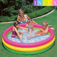 Large 147*33CM INTEX Inflatable Swimming Pool inflatable pool Baby Kids children ball pool Bath basin Summer baby swimming pool