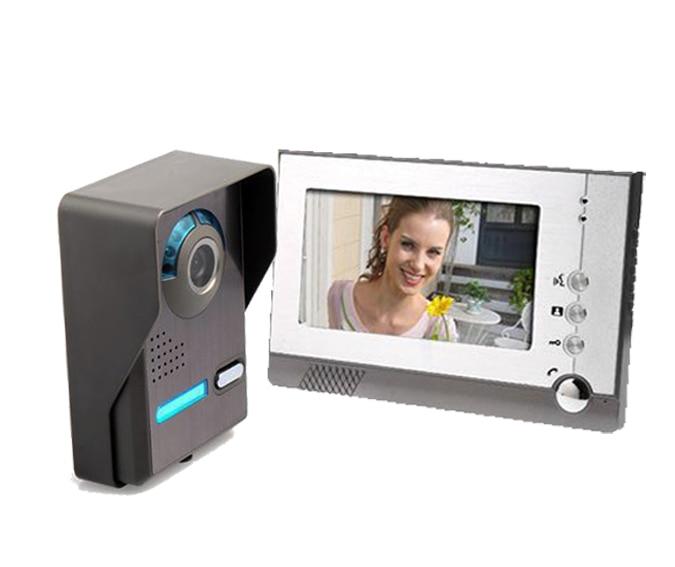 freeship 7 TFT LCD Color Video Door Phone Doorbell Doorphone Intercom for Villa Apartment ,Video Intercom system <br><br>Aliexpress
