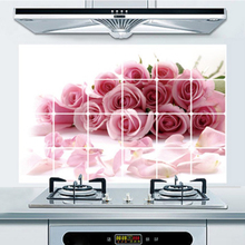 Anti-oil Stain Kitchen Wall Stickers Home Decor Waterproof PVC Transparent Wall Sticker For Tile Fridge Cabinet Stove 75*45cm