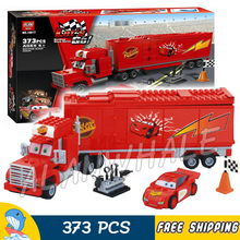 373pcs New Pixar cars Team Truck 10017 Model Building Blocks Children Racing Toys Movie Scene Set Bricks Compatible With lego(China)