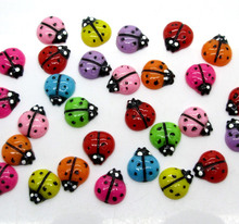 Buy 50Pcs Resin Mixed Ladybug Decoration Crafts Flatback Cabochon Scrapbooking Fit Hair Clips Embellishments Beads Diy for $1.45 in AliExpress store