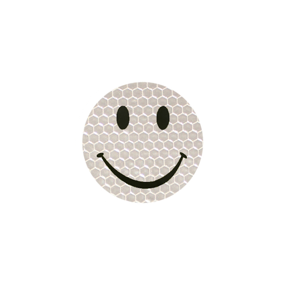 Silver color Reflective Smiley Stickers car Accessories