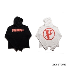 Best Version 2017 Vlone Friends Collection Women Men Hooded Hoodies 1:1 Top Quality Skateboard Brand Hophop Men Hoodies Vlone(China)