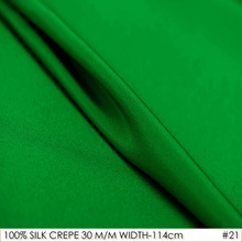 Heavy CREPE DE CHINE SILK Fabric for Dress/114cm width/30mommes/100%Pure Silk Fabric 2017 for Embroidered tie-NO.21Bamboo Green