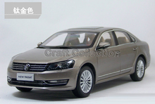 Gold 2011 1:18 Volkswagen German VW Passat Die Cast Model Car Metal Sedan Model Festival Gifts Mini Vehicle